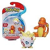 Pokemon- Bandai Pack de 2 Figuras de 5 cm – Salameche & Togepi – WT97884