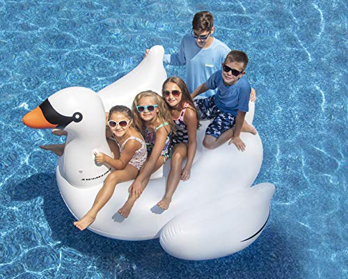 Ancaixin Inflatable Rafts Pool Loungers Floats Mat with Poker and Chips for Pool Party Toys Floating Mattress Poker Tables 4 Persons Set
