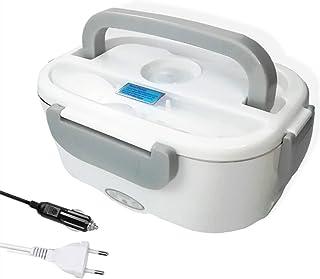 Nifogo 3 en 1 Boite Électrique Lunch Box Chauffante Gamelle Chauffant Boite Repas Alimentaire,Boite Repas,Couvert Chantier...