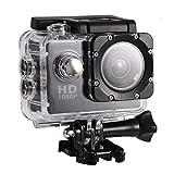 Hopcd Mini cámara Deportiva, videocámara con cámara de acción Mini DV de Alta definición de 2.0 Pulgadas con Resistente al Agua de 30 Metros, Tarjeta de Memoria Compatible con 32G (Negro)