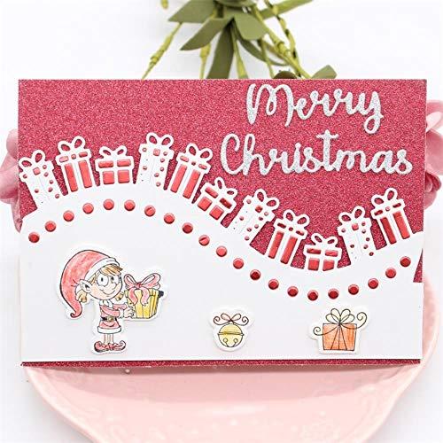 Plantillas de troquelado de metal para álbumes de recortes y fotos de Navidad, tarjetas de papel decorativas