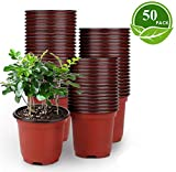 latern 50pcs 15cm vasi da fiori in plastica per piante vasi da semina leggeri vasi per piante da vivaio vasi per fiori(15x13 cm)