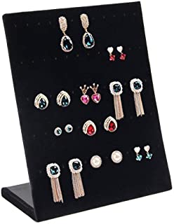 Valdler Earring Holder Velvet Fabric Display Holder Organizer Jewelry Displays 30 Pairs Black