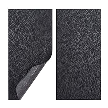Vowcarol Leather Repair Kits for Couches and Cars Leather Repair Patches Super-Thin Vinyl Repair kit 2 PCS Black
