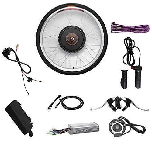 Kit de conversión de Bicicleta eléctrica fácil de Instalar 48V 1000W Kit de conversión de Motor de Bicicleta eléctrica de Rueda Delantera o Trasera (Color : 1000W Front Wheel, Size : 48V 700C)