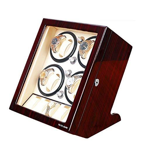 Enrollador Reloj Automático, Para 8 Relojes+5 Posiciones Almacenamiento Motor Silencioso Incorporado Resistente Al Desgaste Relojes Fáciles De Recoger Caja Almacenamiento Caja Presentación Enrollada