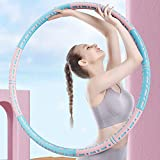 Gneric Detachable Hula Hoop, Adjustable to Increase Hula Hoop, Very Suitable for Adult Exercise, Weight Loss, Fitness, Gymnastics and Dance (Blue Powder)