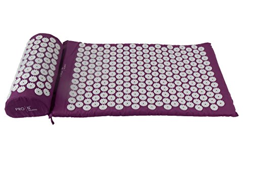 PRO 11 WELLBEING Acupressure Mat and Pillow Set with Carry Bag