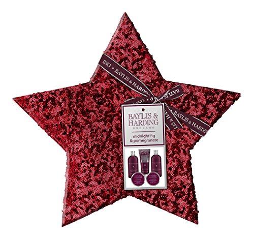Baylis & Harding PLC For Her Minuit Coffret Cadeau Fig & Pomegranate Grand Shimmering Sequin Étoile