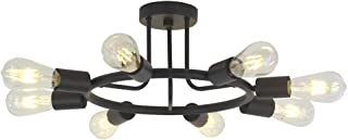 BONLICHT 8 Lights Semi Flush Mount Sputnik Ceiling Light...