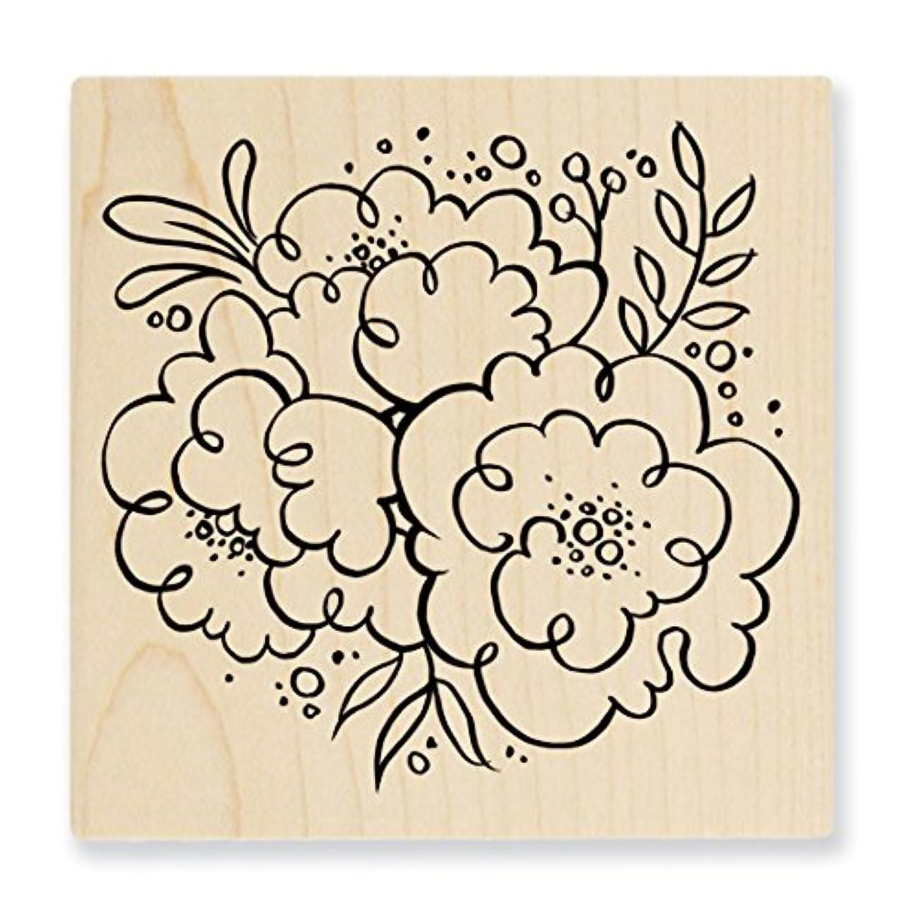 Stampendous Q235 Wood Stamp, Blossom Trio