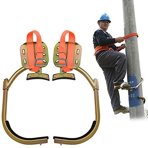 GBHJJ Pole Climbing Spikes, Anti-lip Boom Crampon Klimhulpmiddel, Boom Klimmen Artifact Is Gemakkelijk te gebruiken, Gebruikt voor Fruit Monitoring, Monitoring en Klimmen 350Model