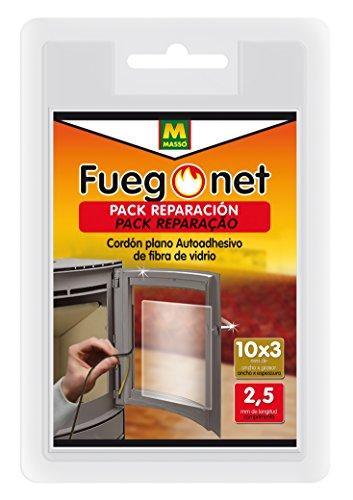 FUEGO NET Fuegonet 231331 Cordón Plano Auto Adhesivo, Negro, 10.5x3x16 cm