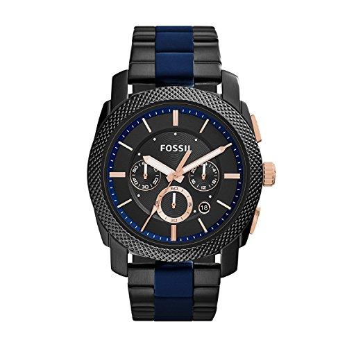 Fossil Herren Chronograph Quarz Uhr mit Edelstahl Armband FS5164