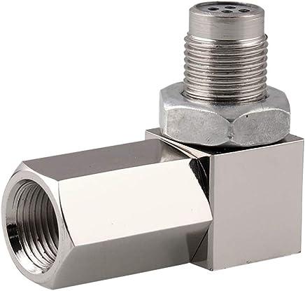 Asdomo 90/° Sensor Spacer Engine Light CEL Check Bung Mini Catalytic Converter