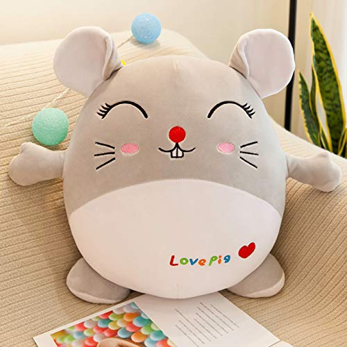 ZHANG Creative Personality Custom Plush Pillow Fluffy Sofa Cushion Feather Cotton Pillow Pillow Sleeping Doll Cartoon Pillow Boy And Girl Cute Birthday GiftHamster cartoon doll 70cm picture color
