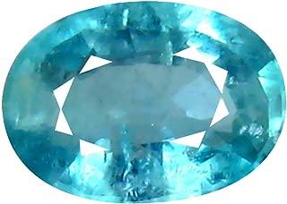 Deluxe Gems 0.50 ct Oval Cut (6 x 4 mm) Unheated/Untreated Greenish Blue Grandidierite Natural Gemstone