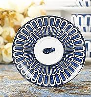 セット西洋料理ヨーロッパの平板骨中国カップソーサーケーキプレート durable (Color : 8inch)
