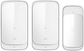 Deurbel High-end draadloze deurbel elektronische afstandsbediening Creative Home Villa deurbel Externe deurbel (Color : Wh...