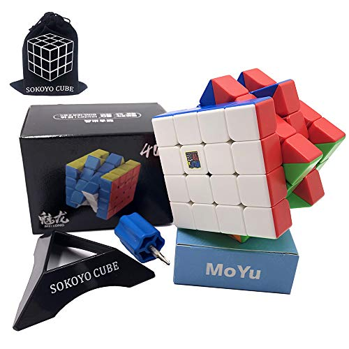 SOKOYO Moyu Meilong M Magnet 2x2 3x3 Magic Cube 4x4 5x5 Stickerless Speed Cube Magnet Puzzle Cube 2x2x2 3x3 4x4x4 5x5x5 (4x4x4)