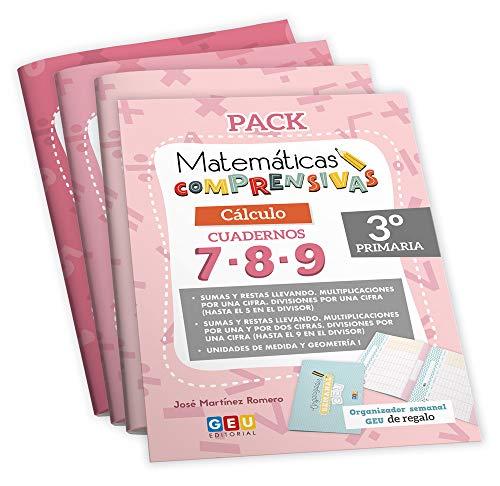 Pack Matemáticas Comprensivas 3º PRIMARIA: Cuadernos Repaso CÁLCULO | EDITORIAL GEU (Niños de 8 a 9 años)