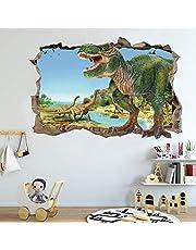 Pegatinas de Pared Dinosaurio, Vinilos Dinosaurios Agrietada Calcomanías de Pared Adhesivos de Pared de Dinosaurio 3D Muros Rotos, para Infantiles Habitación Salón Dormitorio
