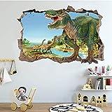 Pegatinas de Pared Dinosaurio, Vinilos Dinosaurios Agrietada Calcomanías de Pared Adhesivos de Pared de Dinosaurio 3D Muros Rotos, para Infantiles Habitación Salón Dormitorio (B)