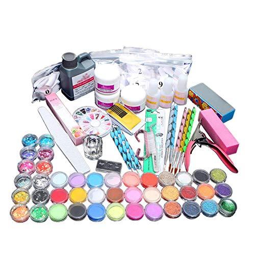 Acrílico Polvo Brillante Glitter Nail Art Decoración Acrílico Kit de Uñas de...