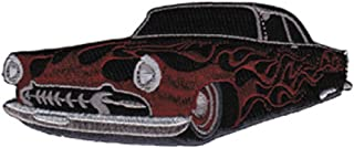 Hot Rod with Flames - Hot Rods - Iron on or Sew on Embroidered Patch