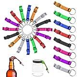 MotBach 24 Pcs Multi-Color Metal Bottle Opener, Aluminum Alloy Bottle Opener, Keychain Pocket Claw Bar Beverage Beer Bottle Opener, 8 Colors
