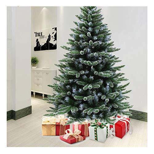 YOGANHJAT Árbol de Navidad Artificial Árbol Espeso Abeto Artificial Automontable C/Soporte Metálico Material PVC Natural nevado,Verde,120cm/3.9ft