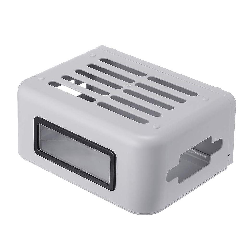 ラウズ導入するの面では延長リードケーブルTidyのを隠すためのケーブルマネジメントボックスストレージ管理ボックス、ワイヤレス無線LANルータボックスウッドプラスチックウォールプラスチック製ケーブル収納ボックス,グレー