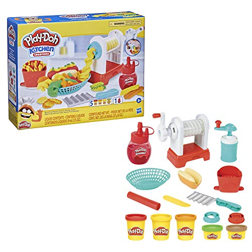 Play-Doh Kitchen Creations - Set di Patatine Fritte a Spirale, per Bambini dai 3 Anni in su, Non tossico