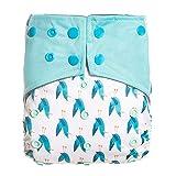 Happy Cherry - Pañal de Tela Reutilizables Bebé Recién Nacido Pantalones de Pañales Entrenamientos Lavable a Prueba de Fugas para Niña Niño Infantil Pañal Transpirable Ajustables - 0-2 Años