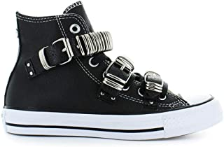 f3064f5a1993d Converse Chaussures Femme Baskets All Star Noir Punk Metal Buckle Automne-Hiver  2019