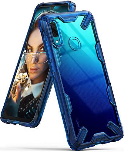 Ringke Fusion-X Diseñado para Funda Huawei P Smart 2019, PC Transparente + Parachoque TPU, Diseño Moderno Carcasa Antigolpes Huawei P Smart 2019 (6.21 Pulgadas) - Space Blue