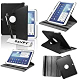 SAVFY Housse Etui Compatible avec Samsung Galaxy Tab 3 10.1Pouces + Stylet + Film...