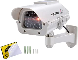 YSUCAU Solar Powered CCTV Security Dummy Camera with Flashing Led Outdoor/Indoor Use for Homes & Business