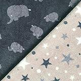Fabulous Fabrics Fleece anthrazit, Tier, 145cm breit –