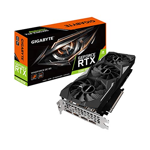 Gigabyte GeForce RTX 2080 Super WINDFORCE OC 8G, GV-N208S-WF3OC-8GD, Scheda...