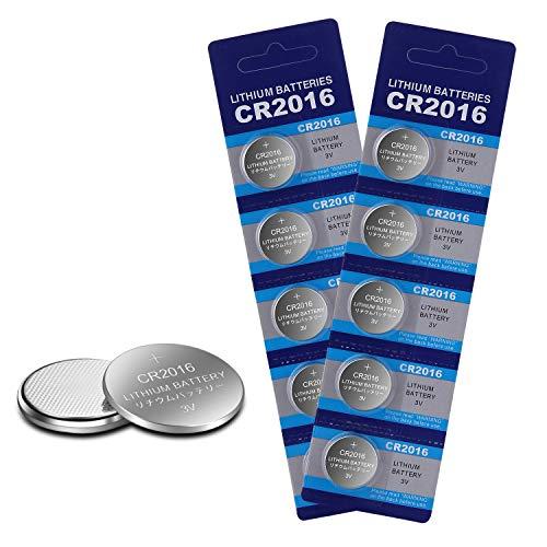 CR2016 Lithium-Batterie für Garagentoröffner / Uhr, 3 V, 10 Stück