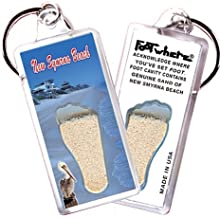 "product image for New Smyrna Beach ""FootWhere"" Key Chain. Made in USA (NS104 - Beach Pads)"