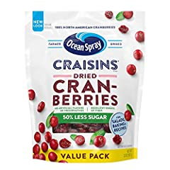 REDUCED-SUGAR SWEETNESS: Ocean Spray Reduced-Sugar Dried Cranberries are the 50% lower-sugar alternative to the original dried cranberry and continue to surprise your taste buds with the sweet, delicious taste of this superfruit. HEALTHFUL CRANBERRIE...