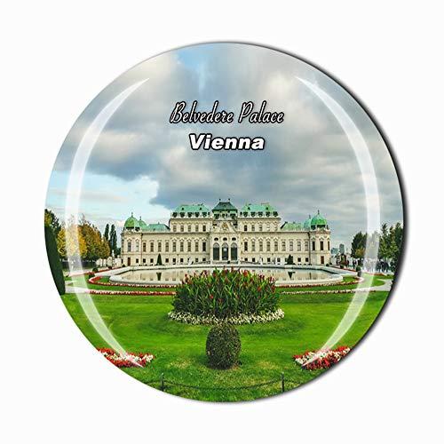 Belvedere Palace Vienna Austria Imán para nevera, recuerdo de viaje, regalo para casa, cocina, nevera, decoración magnética, colección de imanes de cristal