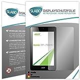 Slabo 2 x Bildschirmschutzfolie kompatibel mit Acer Iconia One 7 (B1-730HD) Bildschirmschutz Schutzfolie Folie No Reflexion | Keine Reflektion MATT