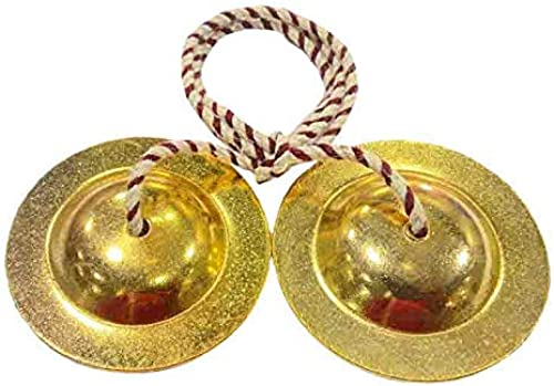GT manufacture Percussion hand cymbals brass Manjira pair indian Musical Instruments 01 copper polish