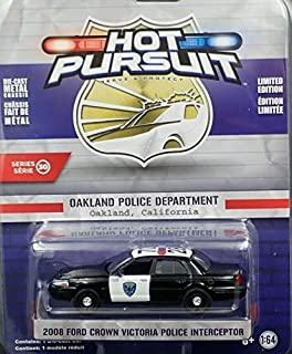 Greenlight 42870-D Hot Pursuit Series 30 2008 Ford Crown Victoria Police Interceptor Oakland, California Police 1:64 Scale