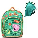 Mochila De Peppa Pig | Accesorio Escolar George Peppa Pig | Mochila con Capucha De Dinosaurio...