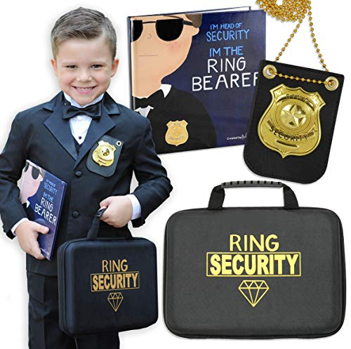 Tickle & Main - Ring Bearer Gift Set – Includes Book, Badge, and Wedding Ring Security Briefcase. I m Head of Security - I m The Ring Bearer!