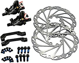 JUIN TECH M1 Hydraulic MTB E-Bike Disc Brake Set 160mm with Rotor, Front and Rear, Black, JT1948